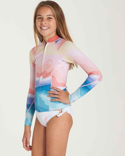 1 Girls' 1mm Peeky Wetsuit Jacket Blue GWSHQBSL Billabong