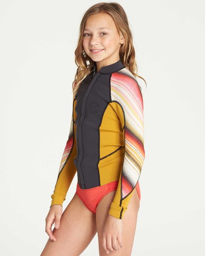1 Girls' Peeky Wetsuit Jacket Green GWSHTBSL Billabong