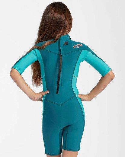 1 2mm Girls Synergy Back Zip Spring Wetsuit Green GWSP3BSB Billabong