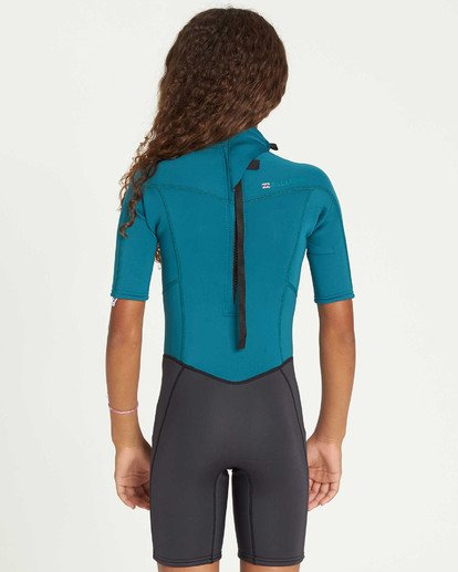 2 Girls' 2mm Synergy Back Zip Springsuit Blue GWSPTBSB Billabong