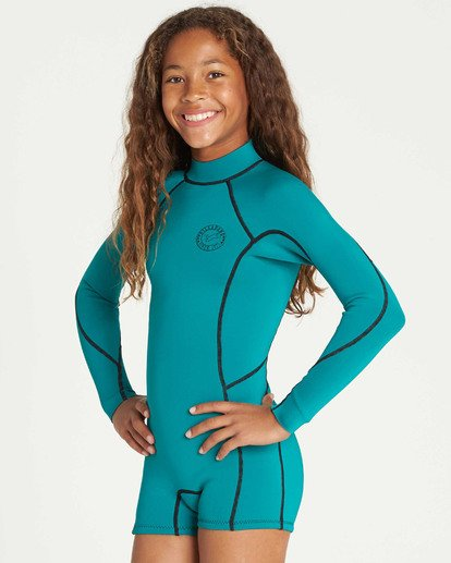 1 Girls' Spring Fever Long Sleeve Springsuit Green GWSPTBSF Billabong