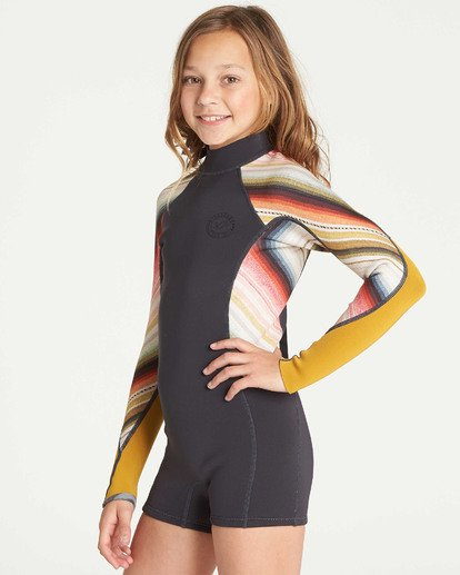 1 Girls' Spring Fever Long Sleeve Springsuit Grey GWSPTBSF Billabong