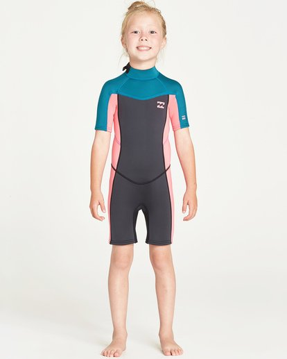 0 Toddlers' Synergy Back Zip Springsuit Blue GWSPTBT2 Billabong