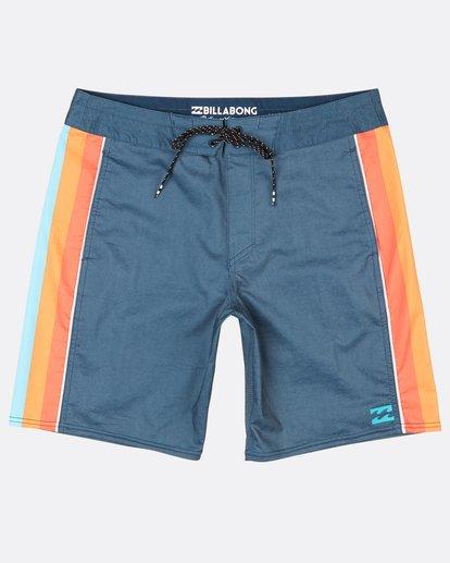 """0 D Bah Lo Tides 18"""" Boardshorts Blue H1BS06BIP8 Billabong"""