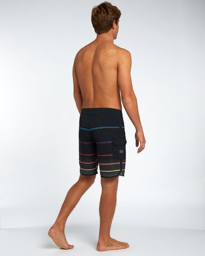 "1 73 X Stripe 19"" Boardshorts Black H1BS08BIP8 Billabong"