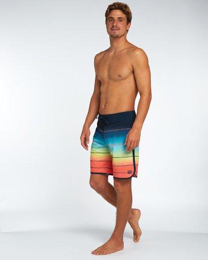 "1 73 X Stripe 19"" Boardshorts Orange H1BS08BIP8 Billabong"