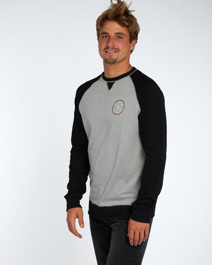 2 Piston Crew Fleece Gris H1CR02BIP8 Billabong