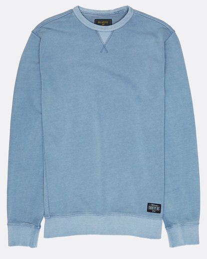 0 Wave Washed Crew Fleece Bleu H1FL03BIP8 Billabong