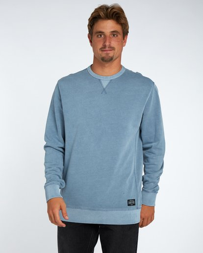 1 Wave Washed Crew Fleece Bleu H1FL03BIP8 Billabong