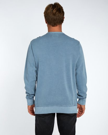 3 Wave Washed Crew Fleece Bleu H1FL03BIP8 Billabong
