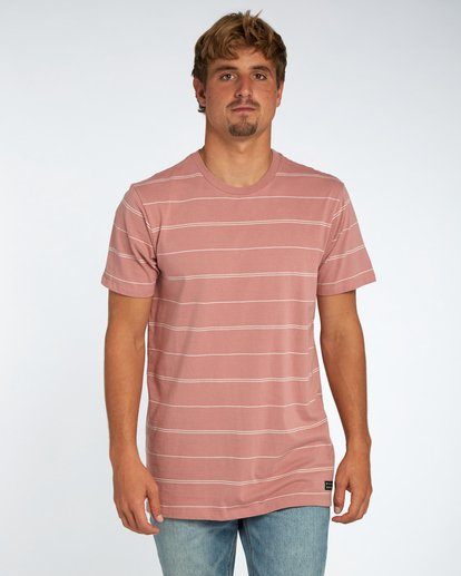 1 Die Cut Stripe T-Shirt Rouge H1JE12BIP8 Billabong