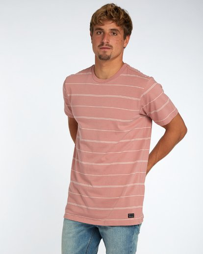 2 Die Cut Stripe T-Shirt Rouge H1JE12BIP8 Billabong