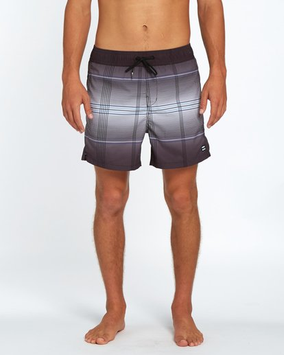 "6 All Day Geo Laybacks 16"" Boardshort Noir H1LB15BIP8 Billabong"