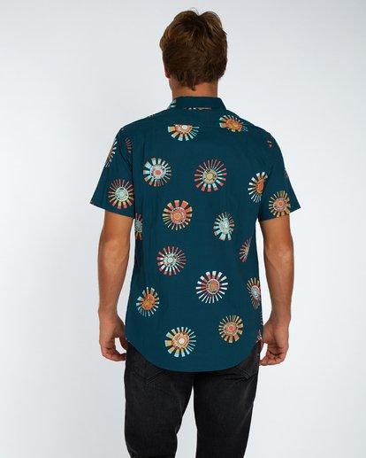3 Sunday Floral Shirt Bleu H1SH03BIP8 Billabong