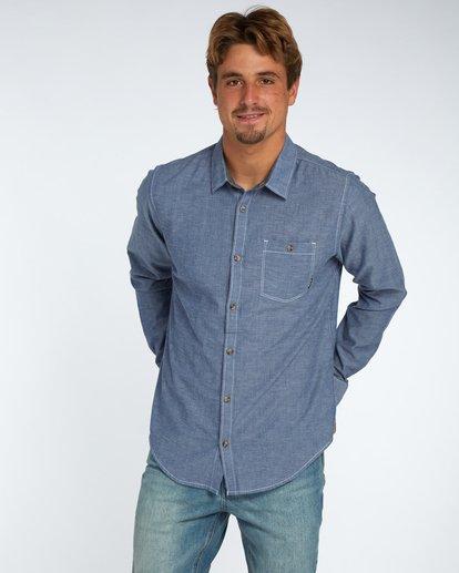 1 All Day Chambray Long Sleeve Shirt Bleu H1SH12BIP8 Billabong