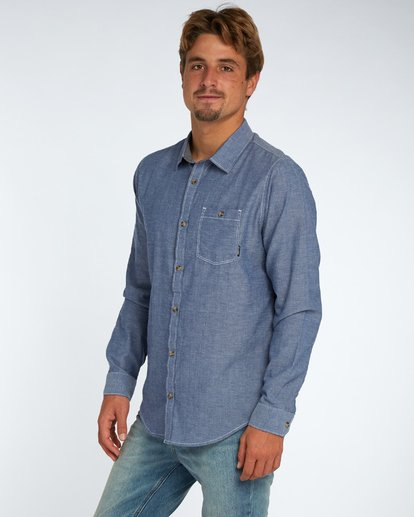 2 All Day Chambray Long Sleeve Shirt Bleu H1SH12BIP8 Billabong