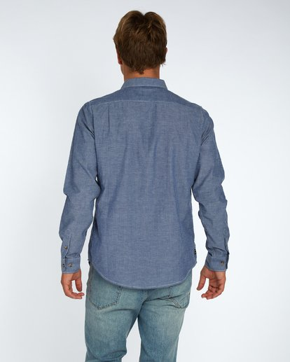 3 All Day Chambray Long Sleeve Shirt Bleu H1SH12BIP8 Billabong