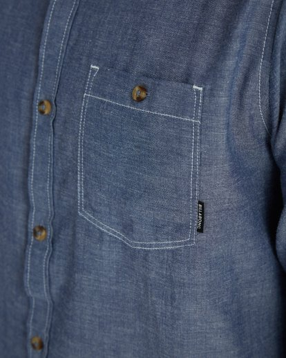 4 All Day Chambray Long Sleeve Shirt Bleu H1SH12BIP8 Billabong