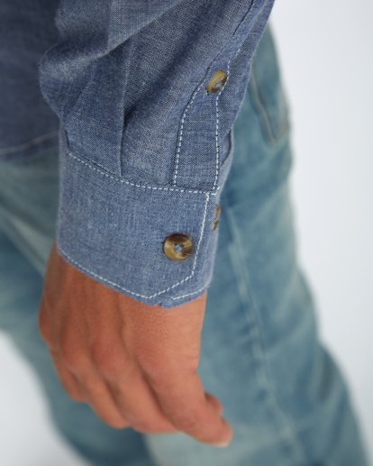 6 All Day Chambray Long Sleeve Shirt Bleu H1SH12BIP8 Billabong