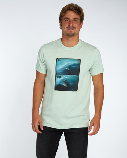 1 In/Out T-Shirt Grün H1SS16BIP8 Billabong