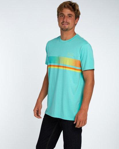 2 Team Stripe T-Shirt Bleu H1SS18BIP8 Billabong
