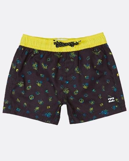 1 Toddler Boys Scribble Laybacks 10 Boardshort Noir H2LB09BIP8 Billabong