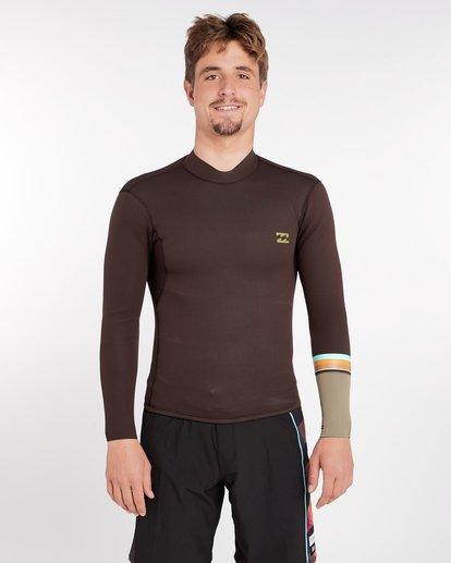 0 2/2 Revolution Dbah Reversible Wetsuit Jacket Marron H42M02BIP8 Billabong