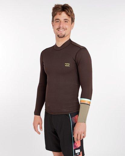 1 2/2 Revolution Dbah Reversible Wetsuit Jacket Marron H42M02BIP8 Billabong