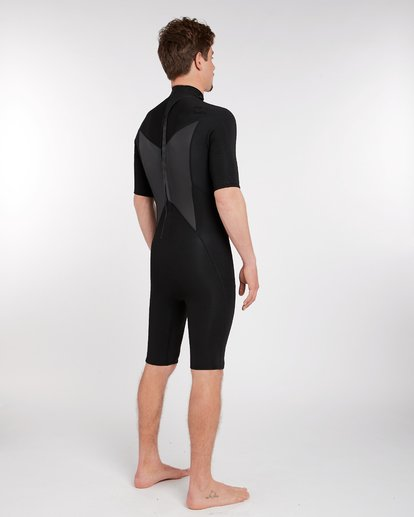 2 2/2 Absolute Comp Flatlock Back Zip Springsuit Noir H42M09BIP8 Billabong