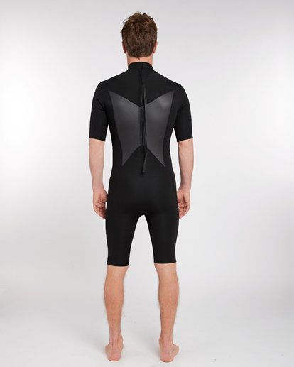 3 2/2 Absolute Comp Flatlock Back Zip Springsuit Noir H42M09BIP8 Billabong