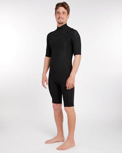 1 2/2 Revolution Gbs Chest Zip Spring Wetsuit Noir H42M14BIP8 Billabong