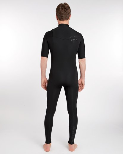 3 2/2 Revolution Dbah Gbs Chest Zip Spring Wetsuit Noir H42M17BIP8 Billabong