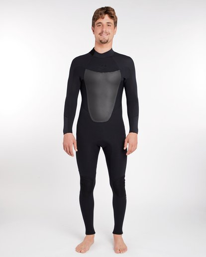 0 3/2 Absolute Back Zip Wetsuit Noir H43M16BIP8 Billabong