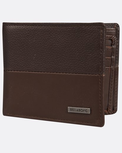 0 Fifty50 Leather Wallet Marron H5LW01BIP8 Billabong