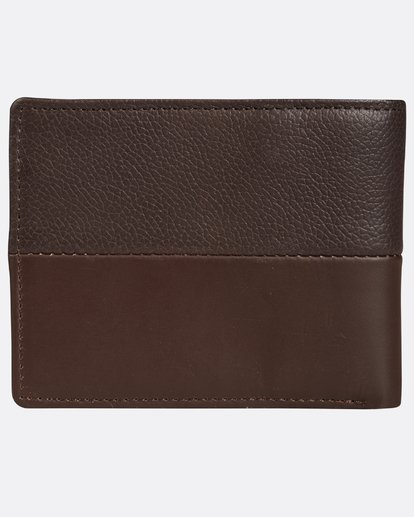 2 Fifty50 Leather Wallet Marron H5LW01BIP8 Billabong