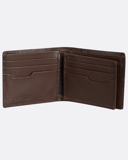 3 Fifty50 Leather Wallet Marron H5LW01BIP8 Billabong