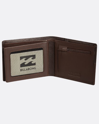 4 Fifty50 Leather Wallet Marron H5LW01BIP8 Billabong