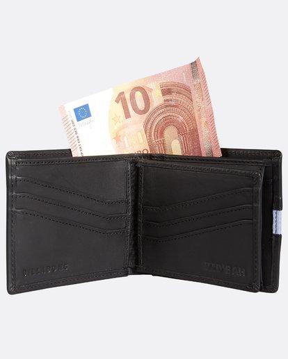 3 D Bah Leather Wallet Noir H5LW02BIP8 Billabong