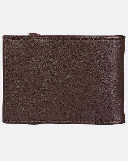 2 Locked Slim Wallet Marron H5WM05BIP8 Billabong