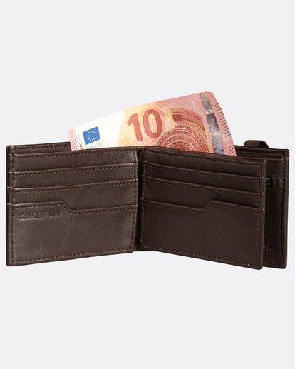 3 Locked Slim Wallet Marron H5WM05BIP8 Billabong
