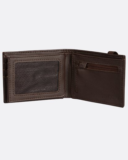 4 Locked Slim Wallet Marron H5WM05BIP8 Billabong