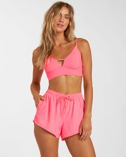 0 Sol Searcher Overdyed Volley Swim Short Pink J1012BSO Billabong