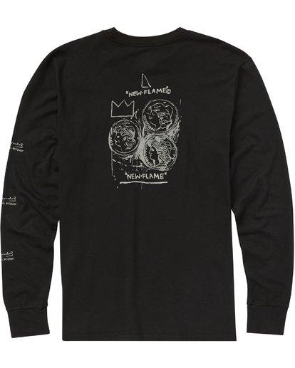 1 New Flame Long Sleeve T-Shirt Noir J1LS01BIMU Billabong
