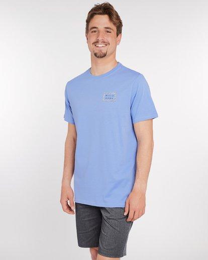 3 Border Die Cut T-Shirt Bleu J1SS08BIS8 Billabong