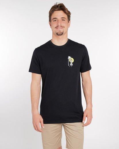 2 Sic Palm T-Shirt Noir J1SS14BIS8 Billabong