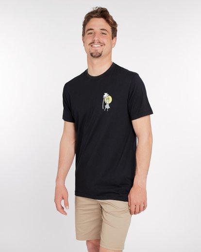 3 Sic Palm T-Shirt Noir J1SS14BIS8 Billabong