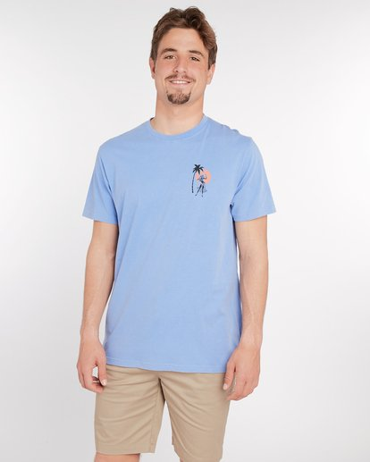 2 Sic Palm T-Shirt Blau J1SS14BIS8 Billabong
