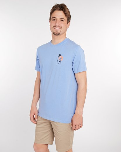 3 Sic Palm T-Shirt Blau J1SS14BIS8 Billabong