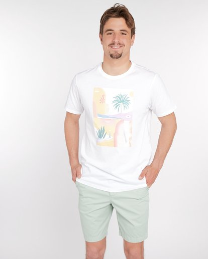 1 Wandering Eye T-Shirt Blanc J1SS16BIS8 Billabong