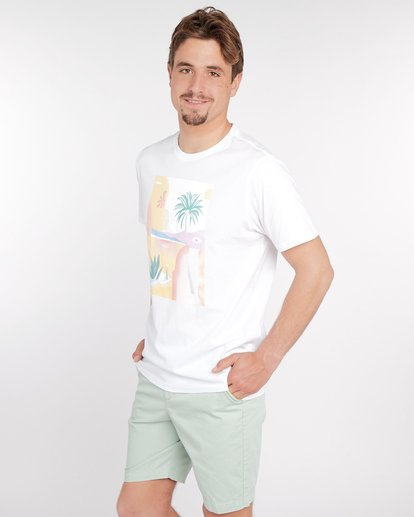 2 Wandering Eye T-Shirt Blanc J1SS16BIS8 Billabong